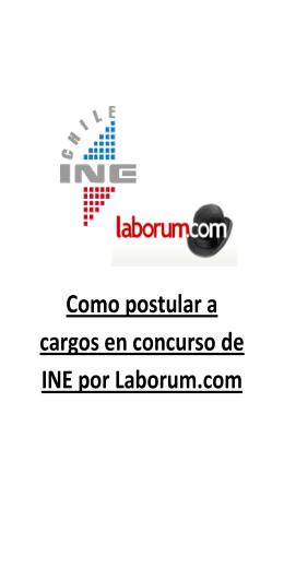 Como postular a cargos en concurso de INE por Laborum.com