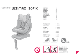 Manual de instrucciones | Concord Ultimax Isofix