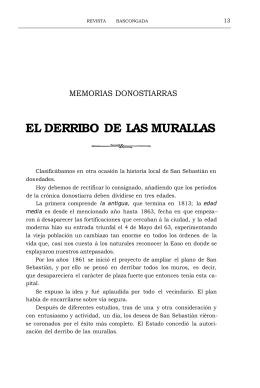 EL DERRIBO DE LAS MURALLAS