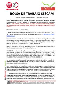 Apertura Bolsa SESCAM