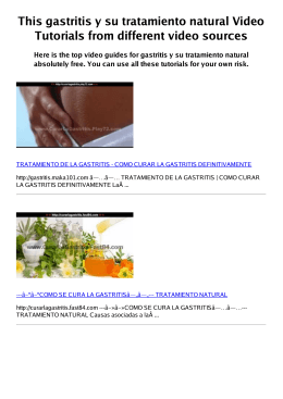 #Z gastritis y su tratamiento natural PDF video books