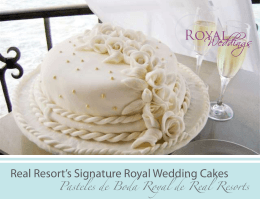 Real Resort`s Signature Royal Wedding Cakes