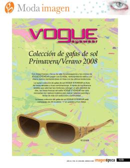 Colección de gafas de sol Primavera/Verano 2008 Vogue