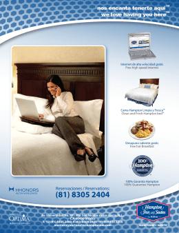 (81) 8305 2404 - Hoteles Optima