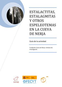 estalactitas, estalagmitas y otros espeleotemas en la cueva de nerja