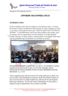 Informe Completo. - Iglesia Pentecostal Unida de Colombia