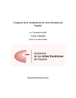 I congreso de la Academia de las Artes Escénicas de España