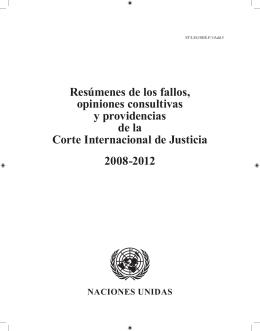 Resúmenes de los fallos, opiniones consultivas y providencias de la
