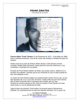 frank sinatra.- décimo aniversario de su muerte
