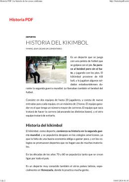 HISTORIA DEL KIKIMBOL