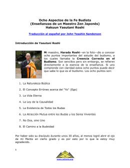 Ocho Aspectos de la Fe Budista (Enseñanzas de un Maestro Zen