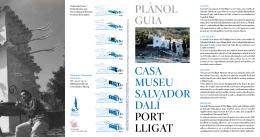PLÀNOL GUIA CASA MUSEU SALVADOR DALÍ PORT LLIGAT