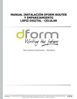 Manual InstalacIón dforM router y eMparejaMIento lápIz dIgItal