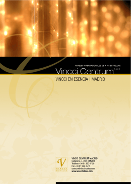 PDF del hotel - Vincci Hoteles