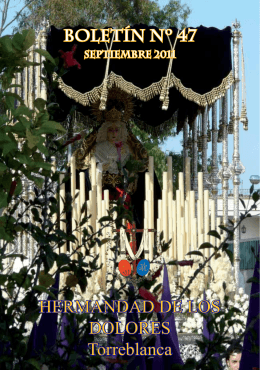 Boletín Nº 47 - Hermandad de los Dolores de Torreblanca
