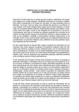 CULTURA, ARTE Y FESTIVIDADES DE AYACUCHO