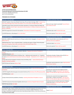 ACTIVO 20-30 INTERNACIONAL Convención Nacional e