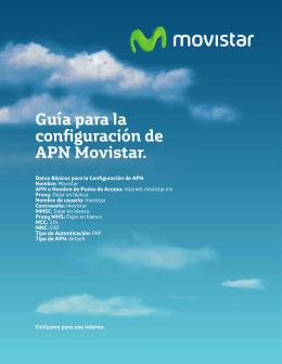 Guía para la configuración de APN Movistar.