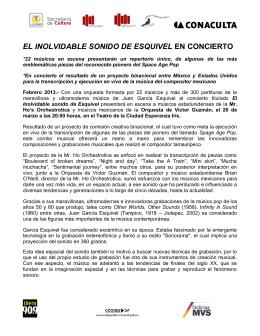 Boletin (Español) PDF - Mr. Ho`s Orchestrotica