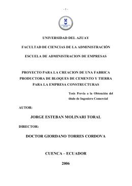 tesis sobre la factibilidad de una bloquera.doc