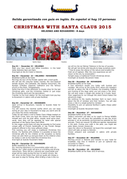 CHRISTMAS with Santa Claus 2015