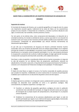 BASES PARA LA ASIGNACIÓN DE LOS HUERTOS