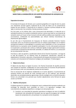 bases para la asignación de los huertos ecosociales de azuqueca