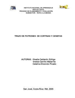 TRAZO DE PATRONES DE CORTINAS Y CENEFAS