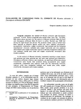 Evaluación de fungicidas para el combate de Mycena citricolor y
