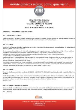 OPCION II – PROGRAMA CON VARADERO