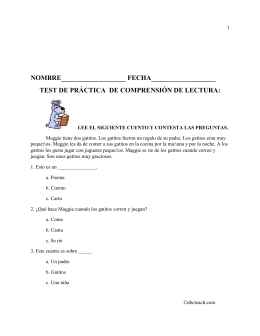 test de práctica de comprension de lectura.