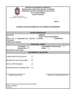 DOCUMENTO A SOLICITAR CONSTANCIA DE ESTUDIOS