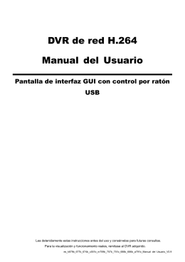 DVR de red H.264 Manual del Usuario