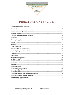 DIRECTORY OF SERVICES - Yucatan Expatriate Services