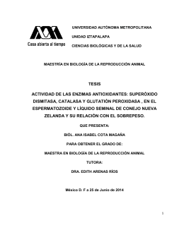 tesis actividad de las enzimas antioxidantes: superóxido dismitasa