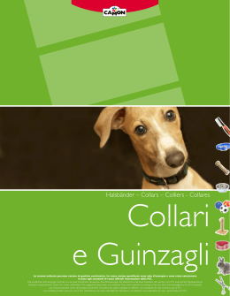 Halsbänder – Collars – Colliers - Collares
