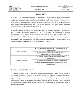 ANÁLISIS DOFA El análisis DOFA es una herramienta de