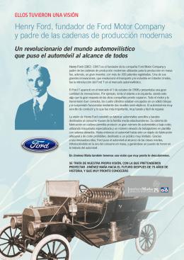 Henry Ford, fundador de Ford Motor Company y padre de las