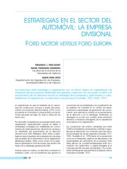 estrategias en el sector del automóvil. la empresa divisional ford