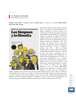 Los Simpson y la filosofía, por Antonio José López Cruces. Eikasia 41