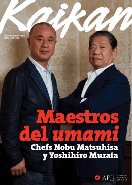 Chefs Nobu Matsuhisa y Yoshihiro Murata