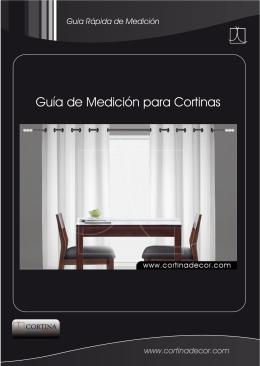 guía de medición de cortinas