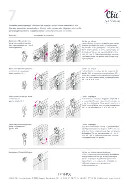 Diferentes posibilidades de confección de cortinas y