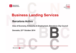 Business Landing Services, Barcelona Activa