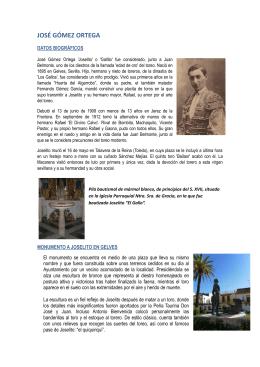 """Joselito """"El Gallo"""" - Ayuntamiento de Gelves"""