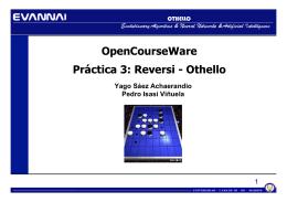 OpenCourseWare Práctica 3: Reversi - Othello