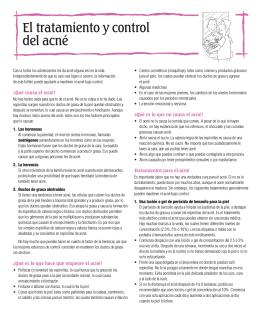 El tratamiento y control del acne`