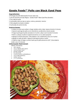 Goode Foods™ Pollo con Black Eyed Peas