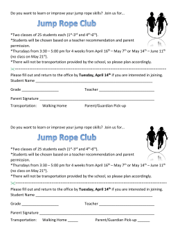 Do you want to learn or improve your jump rope skills? Join us for