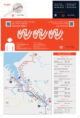 Mapa - Metro Bilbao